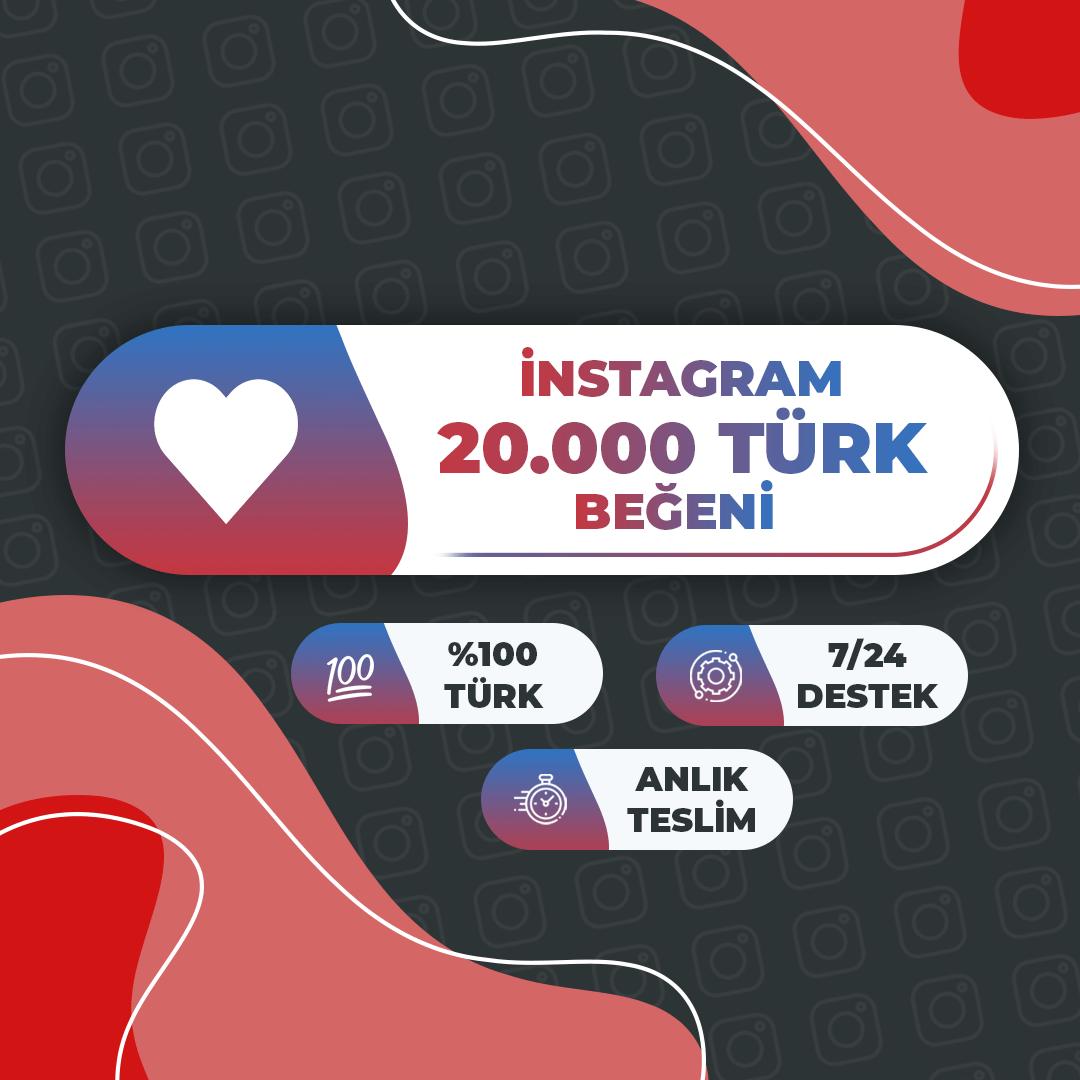 20.000 Türk Beğeni