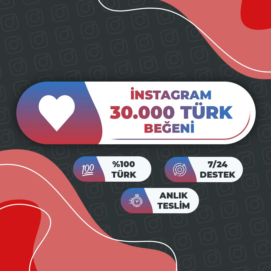30.000 Türk Beğeni