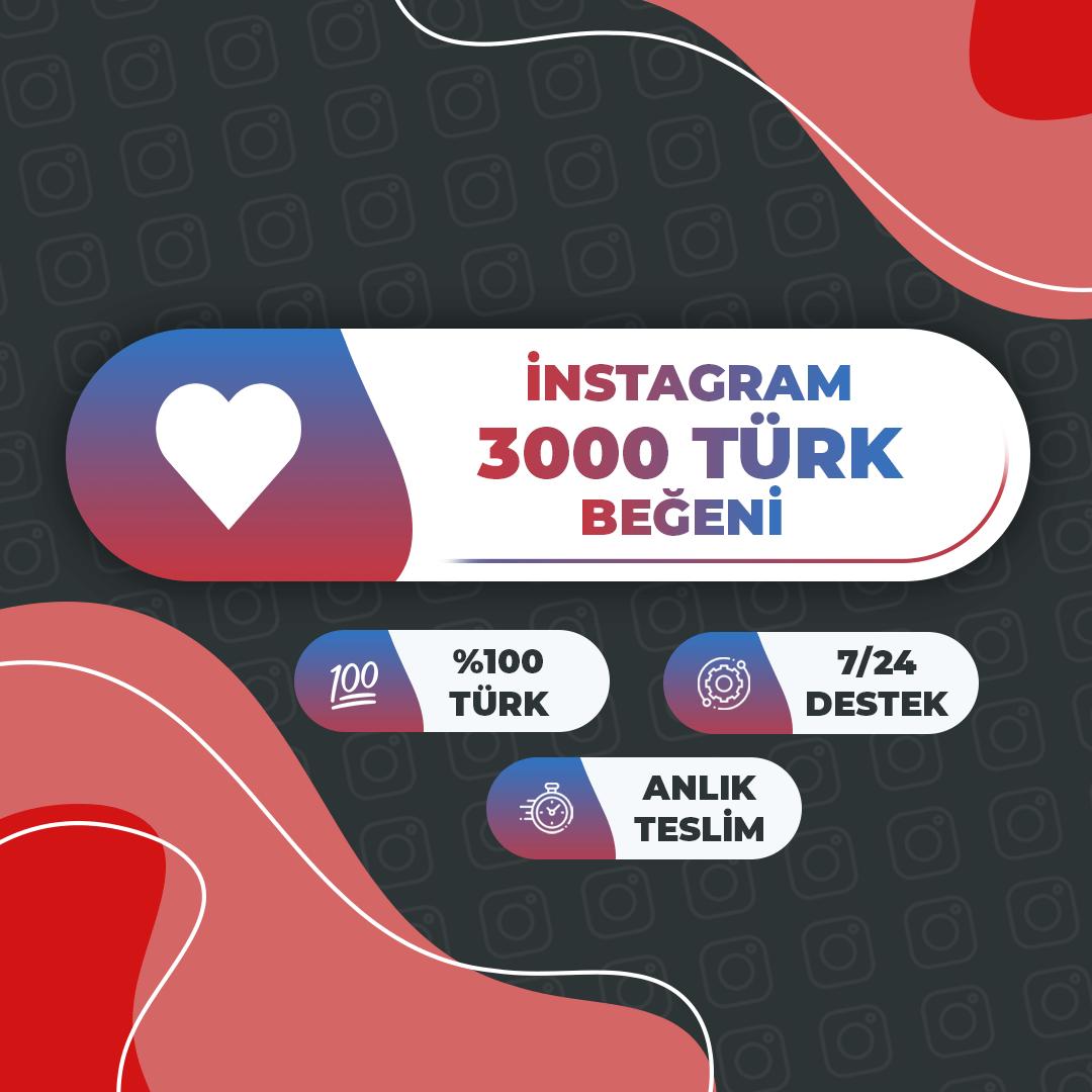 Instagram 3000 Türk Beğeni