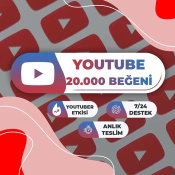 Youtube 20.000 Beğeni