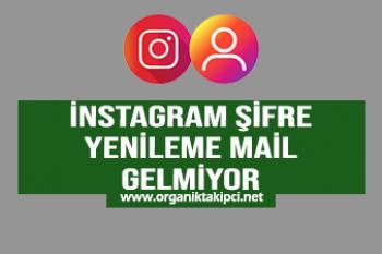 Instagram Şifre Yenileme Mail Gelmiyor!